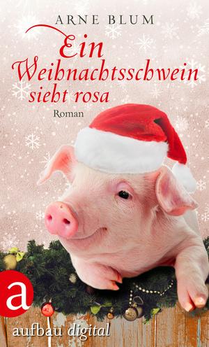 Ein Weihnachtsschwein sieht Rosa