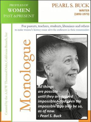 Pearl S. Buck, Writer 1892-1973