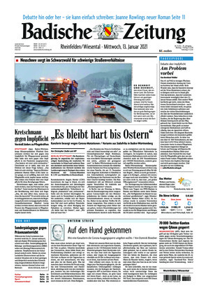 Badische Zeitung - Rheinfelden/Wiesental (13.01.2021)