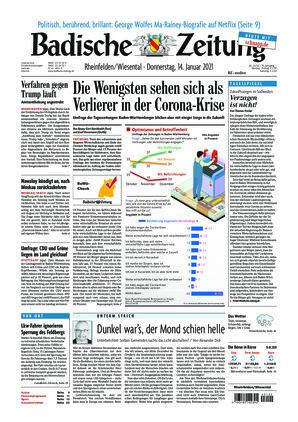 Badische Zeitung - Rheinfelden/Wiesental (14.01.2021)