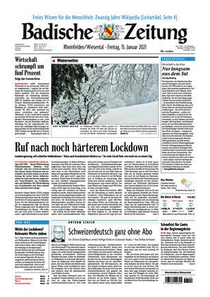 Badische Zeitung - Rheinfelden/Wiesental (15.01.2021)