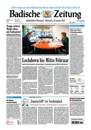 Badische Zeitung - Rheinfelden/Wiesental (20.01.2021)