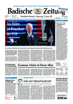 Badische Zeitung - Rheinfelden/Wiesental (21.01.2021)