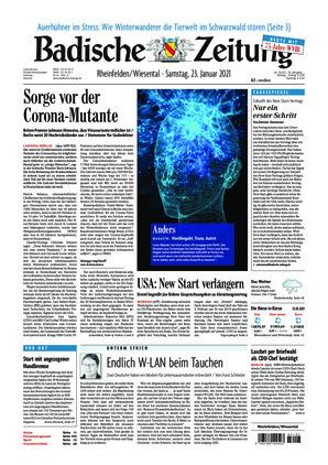 Badische Zeitung - Rheinfelden/Wiesental (23.01.2021)