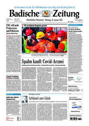 Badische Zeitung - Rheinfelden/Wiesental (25.01.2021)