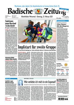 Badische Zeitung - Rheinfelden/Wiesental (23.02.2021)