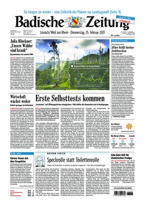 Badische Zeitung - Lörrach/Weil am Rhein (25.02.2021)