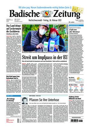 Badische Zeitung - Hochschwarzwald (26.02.2021)