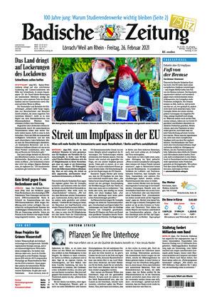 Badische Zeitung - Lörrach/Weil am Rhein (26.02.2021)