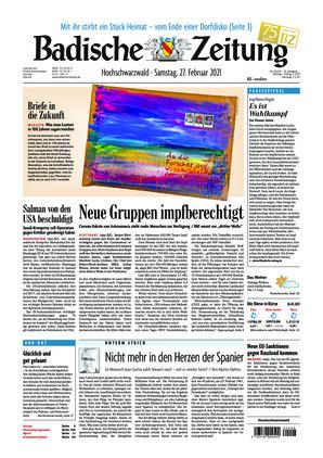 Badische Zeitung - Hochschwarzwald (27.02.2021)