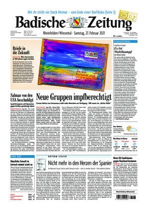 Badische Zeitung - Rheinfelden/Wiesental (27.02.2021)