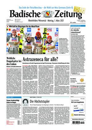 Badische Zeitung - Rheinfelden/Wiesental (01.03.2021)