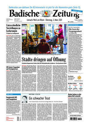 Badische Zeitung - Lörrach (02.03.2021)