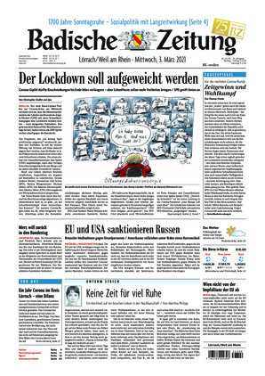 Badische Zeitung - Lörrach/Weil am Rhein (03.03.2021)