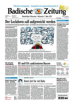 Badische Zeitung - Rheinfelden/Wiesental (03.03.2021)