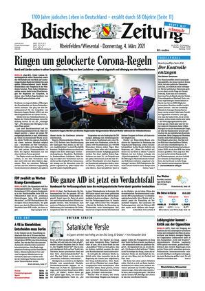 Badische Zeitung - Rheinfelden/Wiesental (04.03.2021)