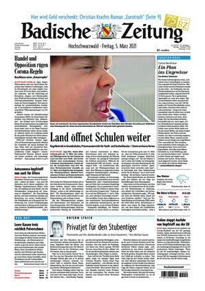 Badische Zeitung - Hochschwarzwald (05.03.2021)