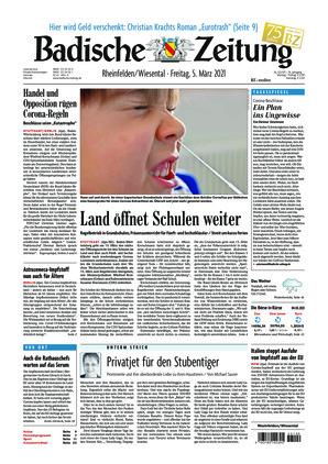 Badische Zeitung - Rheinfelden/Wiesental (05.03.2021)