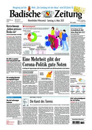 Badische Zeitung - Rheinfelden/Wiesental (06.03.2021)