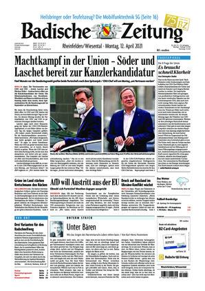 Badische Zeitung - Rheinfelden/Wiesental (12.04.2021)