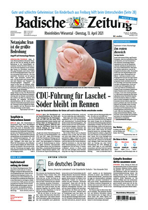 Badische Zeitung - Rheinfelden/Wiesental (13.04.2021)