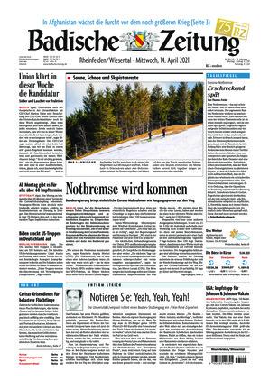 Badische Zeitung - Rheinfelden/Wiesental (14.04.2021)