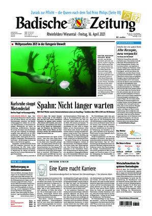 Badische Zeitung - Rheinfelden/Wiesental (16.04.2021)