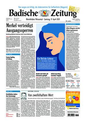 Badische Zeitung - Rheinfelden/Wiesental (17.04.2021)