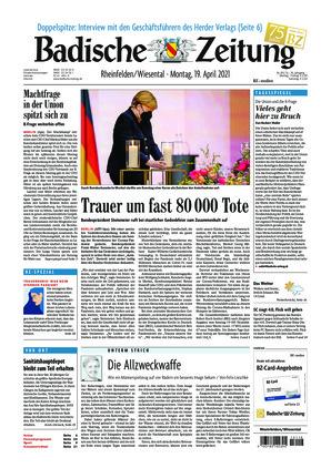 Badische Zeitung - Rheinfelden/Wiesental (19.04.2021)