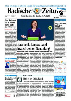 Badische Zeitung - Rheinfelden/Wiesental (20.04.2021)