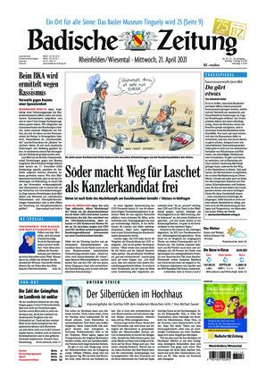 Badische Zeitung - Rheinfelden/Wiesental (21.04.2021)