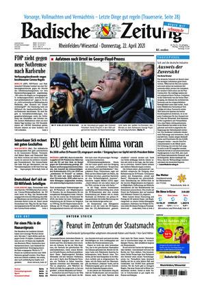 Badische Zeitung - Rheinfelden/Wiesental (22.04.2021)