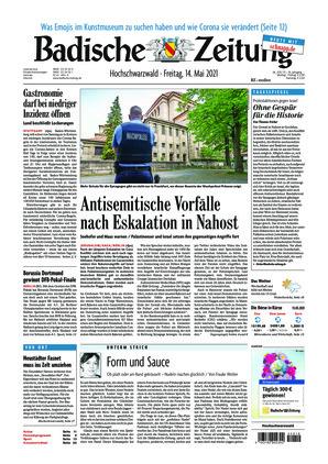 Badische Zeitung - Hochschwarzwald (14.05.2021)