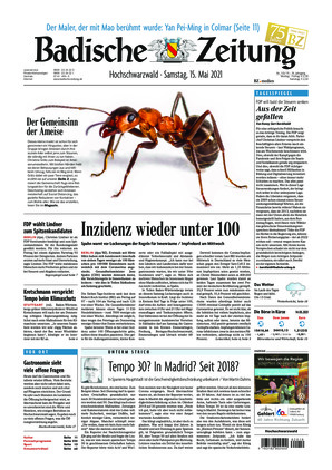 Badische Zeitung - Hochschwarzwald (15.05.2021)