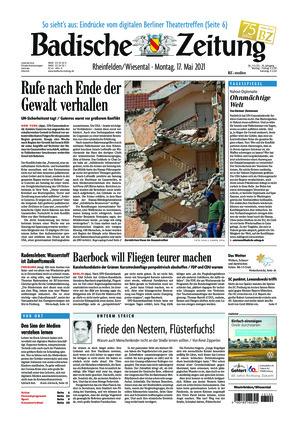 Badische Zeitung - Rheinfelden/Wiesental (17.05.2021)