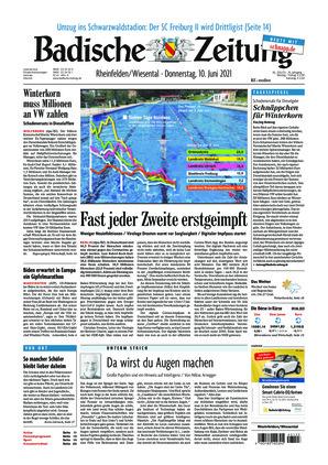 Badische Zeitung - Rheinfelden/Wiesental (10.06.2021)
