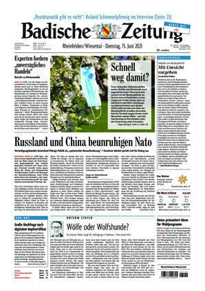 Badische Zeitung - Rheinfelden/Wiesental (15.06.2021)