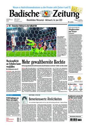 Badische Zeitung - Rheinfelden/Wiesental (16.06.2021)
