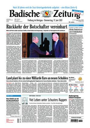 Badische Zeitung - Freiburg im Breisgau (17.06.2021)