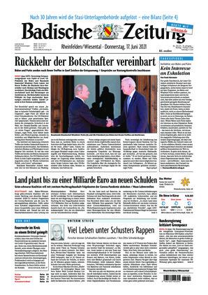 Badische Zeitung - Rheinfelden/Wiesental (17.06.2021)