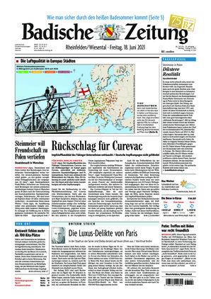 Badische Zeitung - Rheinfelden/Wiesental (18.06.2021)