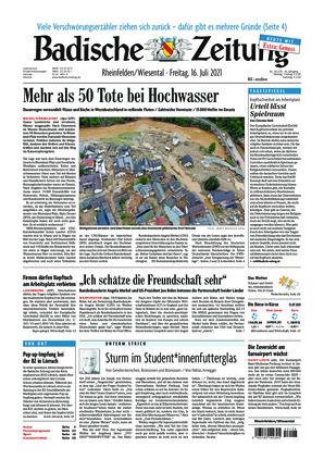 Badische Zeitung - Rheinfelden/Wiesental (16.07.2021)
