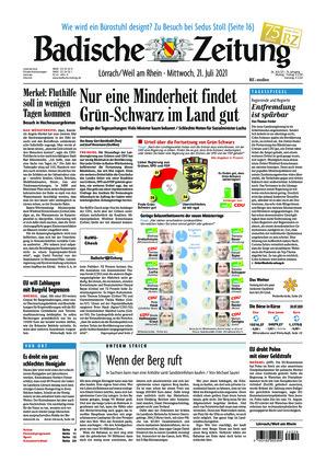 Badische Zeitung - Lörrach/Weil am Rhein (21.07.2021)