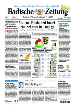 Badische Zeitung - Rheinfelden/Wiesental (21.07.2021)