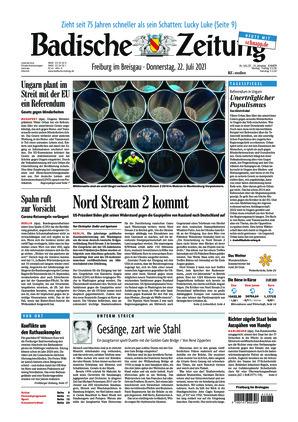 Badische Zeitung - Freiburg im Breisgau (22.07.2021)