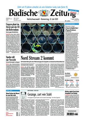 Badische Zeitung - Hochschwarzwald (22.07.2021)