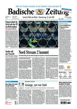 Badische Zeitung - Lörrach/Weil am Rhein (22.07.2021)
