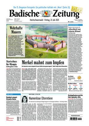 Badische Zeitung - Hochschwarzwald (23.07.2021)