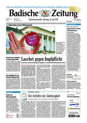 Badische Zeitung - Hochschwarzwald (26.07.2021)