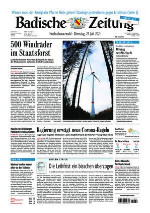 Badische Zeitung - Hochschwarzwald (27.07.2021)